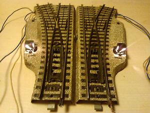 Marklin-H0-5202-electr-weichenpaar-PISTE-M-bon-teste-etat