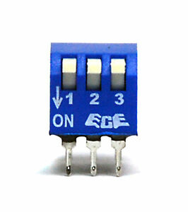 50pc 3P Edge Actuated Side Piano Type DIP Switch pitch=2.54x7.6<wbr/>2mm ECE EPS103AZ