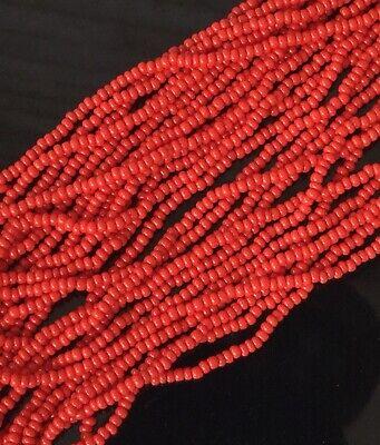 12 Strands 11//0 Czech Preciosa Opaque Black Glass Seed Beads Full Hank