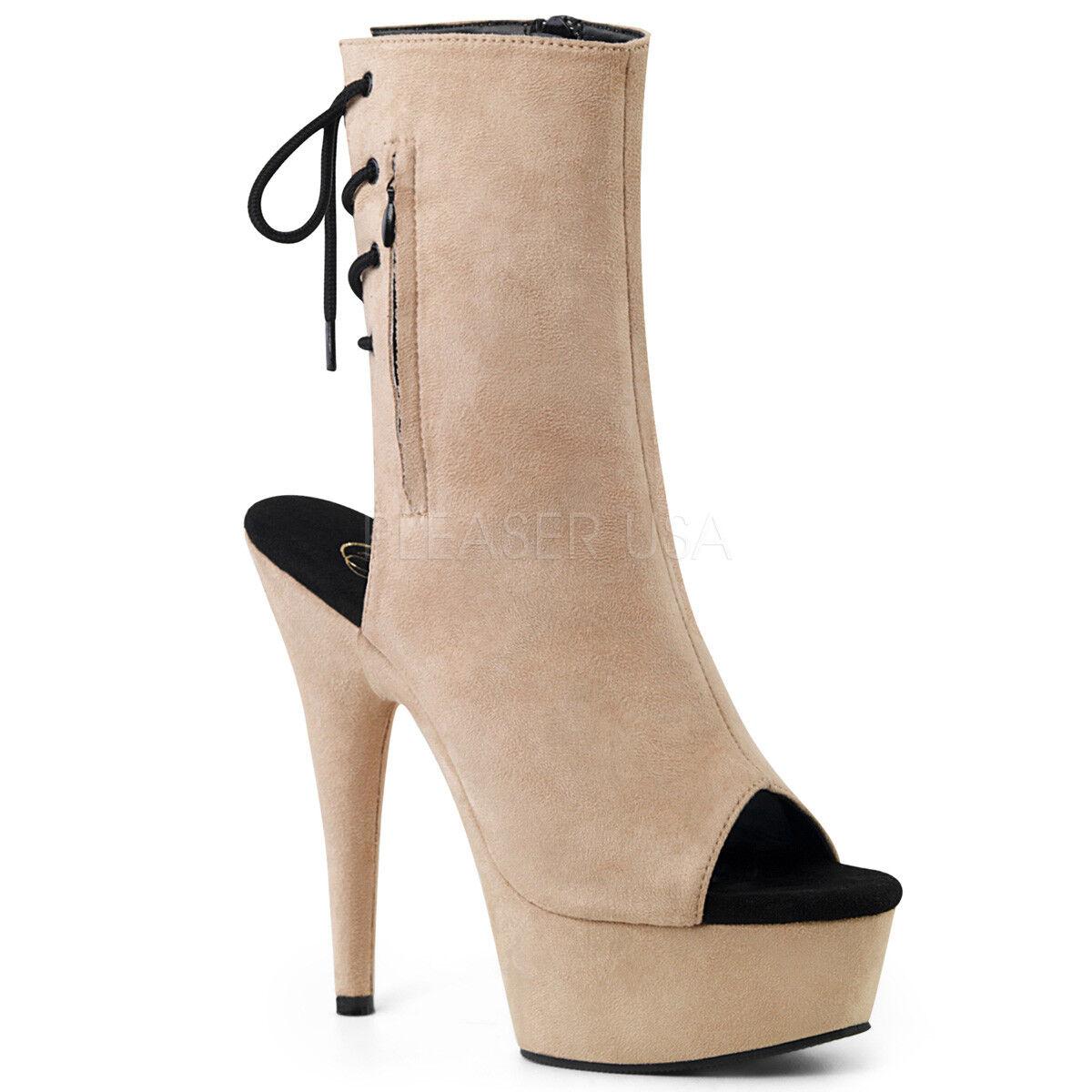 6 Negro Gamuza Fetiche Stripper Stripper Fetiche Tacones Bailarina zapatos 16a47e