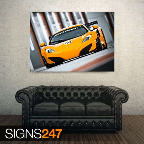 AA809 Photo Picture Poster Print Art A0 to A4 CAR POSTER MCLAREN MP4 12C GT3