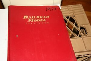 RAILROAD-MODEL-CRAFT-MAGAZINE-FULL-YEAR-1977-IN-BINDER-MOST-ISSUES-IN-GOOD-SHAPE