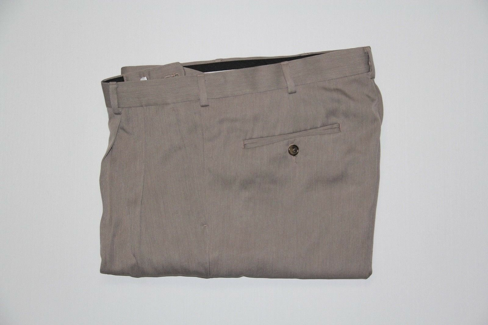 NWOT Perry Ellis Men's 34x34 Taupe Pleated Classic Fit Dress Pants