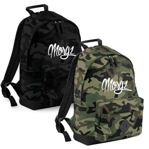MORGZ BAG  Camo Retro Rucksack Backpack Ultimate Team Youtube Prank Vlogger MGZ