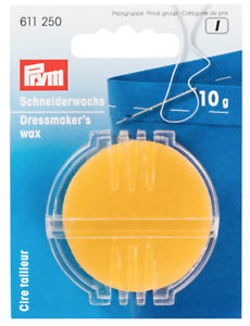 FREE P/&P Prym Beeswax 10g Dressmaker/'s Wax with Holder