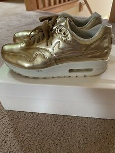 Details about Nike Airmax 1 V SP Liquid Metal Metallic Gold sz 6