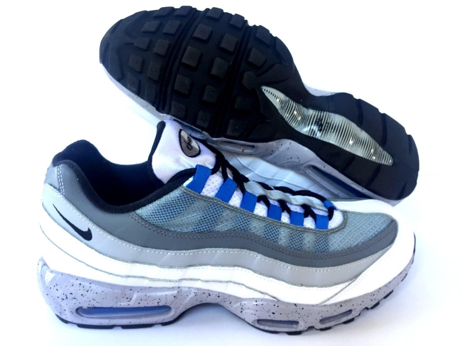 Nikeid air max 95 new grigio / blu - 818592-995. noi uomini sz 10