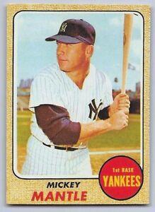 1968-MICKEY-MANTLE-Topps-034-REPRINT-034-Baseball-Card-280-NEW-YORK-YANKEES