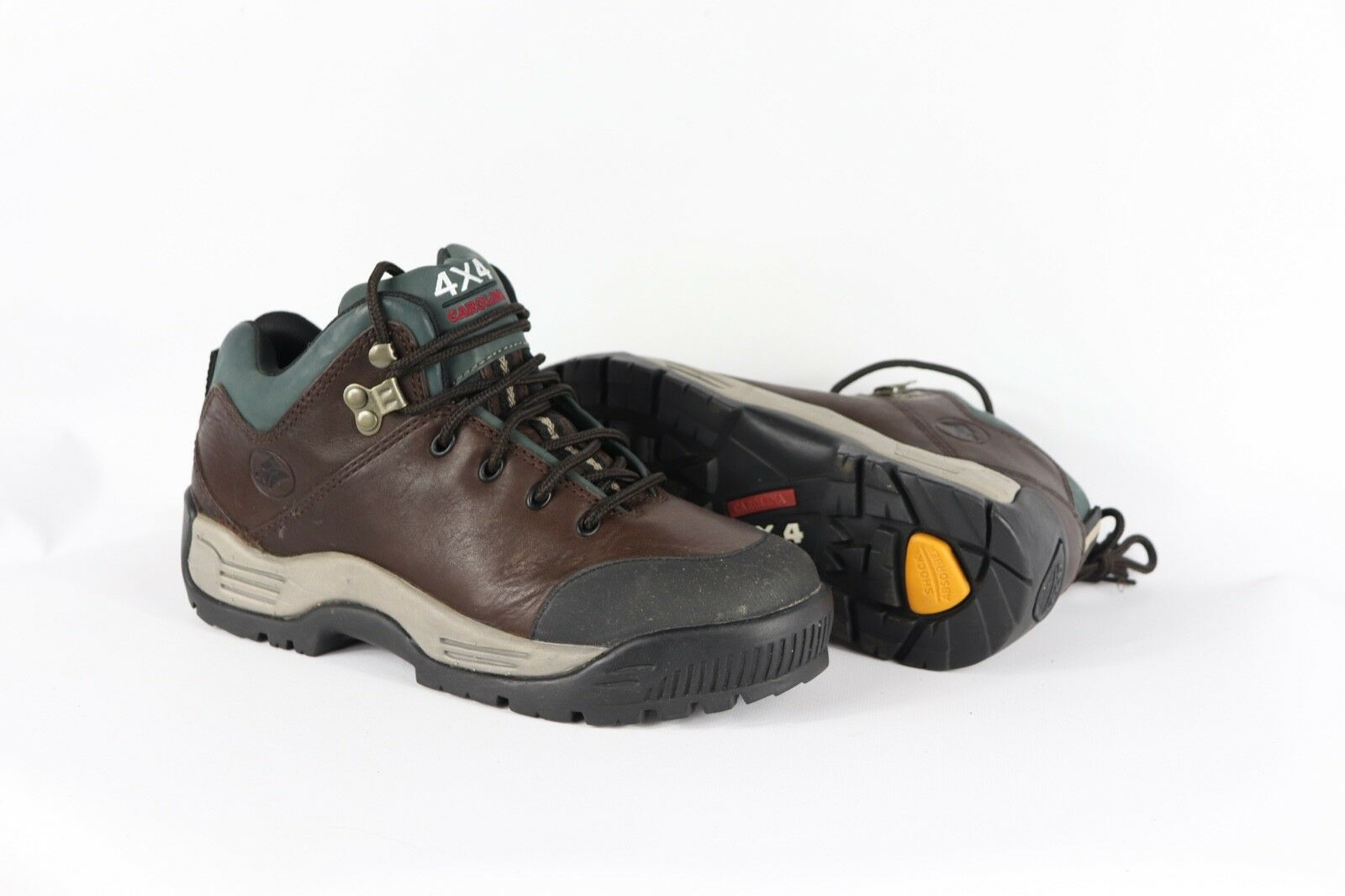 New Carolina Mens 7 D 4x4 Leather Steel Toe Outdoor Hiking Trail Boots Brown