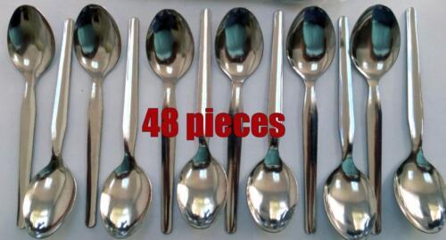 haute qualité en acier inoxydable poli cuillères à café NEUF Lot de 12 Everyday économie