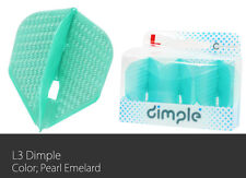 L-Style Dimple Champagne Small Standard Dart Flight Pearl Emerald set of 3