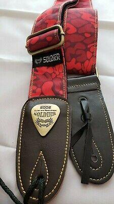 ! BLACK Soldier 2002 Adjustable Nylon//Cotton Guitar Strap FREE USA SHIPPING!