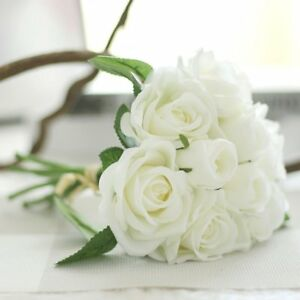 9 head pretty lovely cute rose flower wedding home decor bridal image is loading 9 head pretty lovely cute rose flower wedding mightylinksfo