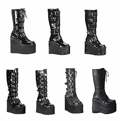 Women's Shoes Demonia Women's Swing-220 815 Transformer-800 Wave-302 Goth Punk Vegan Boots Rapid Heat Dissipation
