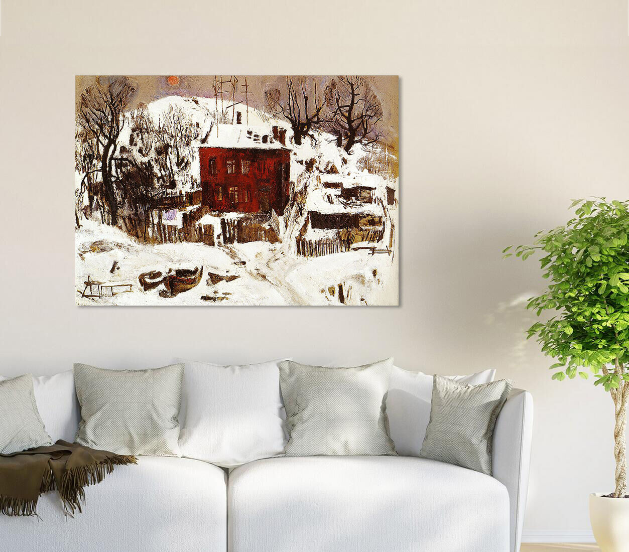 3D Schnee, Haus 536 Wandbild Fototapete BildTapete Familie AJSTORE DE