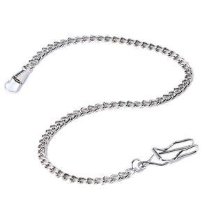 High-Quality-Pocket-Watch-Fob-Chain-Black-Silver-Gold-Bronze-38cm
