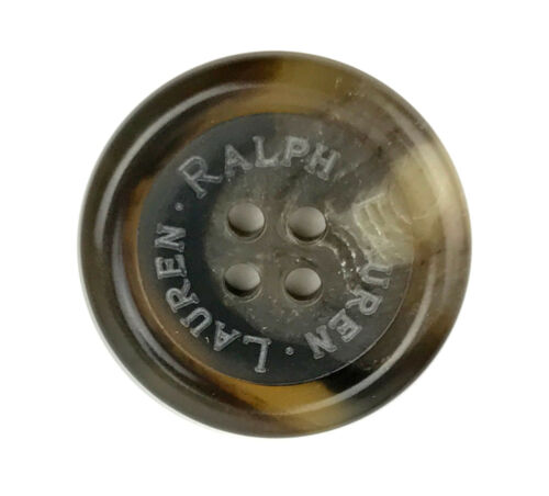 "Ralph Lauren Tortoise Swirl  blend Color Plastic Replacement Main Button .90/"""