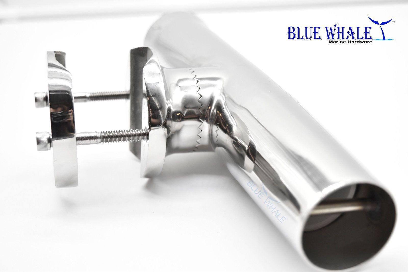 2PCS Luxury Clamp-on Fishing Rod Holder Holder Rod for Rail 1-1/4