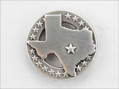 LOT OF 10 PCS CONCHO TEXAS STATE WITH STAR SILVER FINISH NEW 10-1007