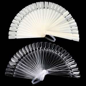 Sexy-32Pcs-Nail-Art-False-Sticks-Polish-Practice-Display-Fan-Board-Design-Tool