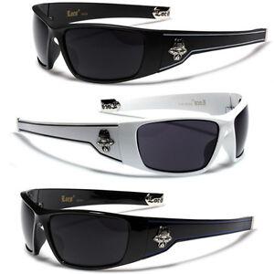 c6a4be66e34 Image is loading Authentic-Locs-Sunglasses-Dark-Lens-Black-White-OG-