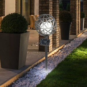 Terrasse Aus Stahl led solar leuchte garten beleuchtung kugel steck le terrasse