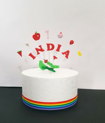 The Very Hungry Caterpillar Anniversaire Personnalisée Nom et Âge cake topper