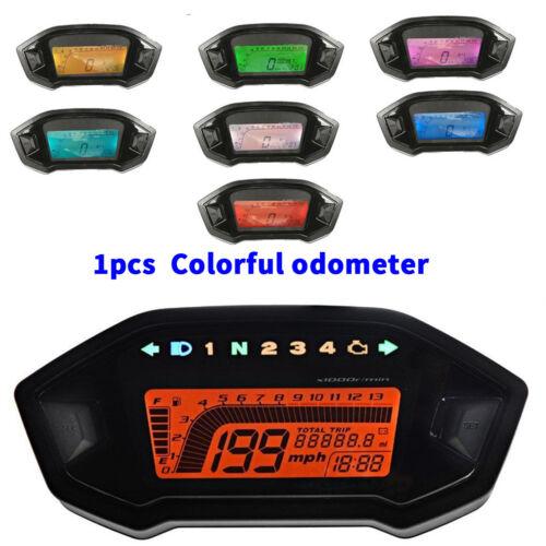 7 Colors Motorcycle Lcd Digital Speedometer Odometer