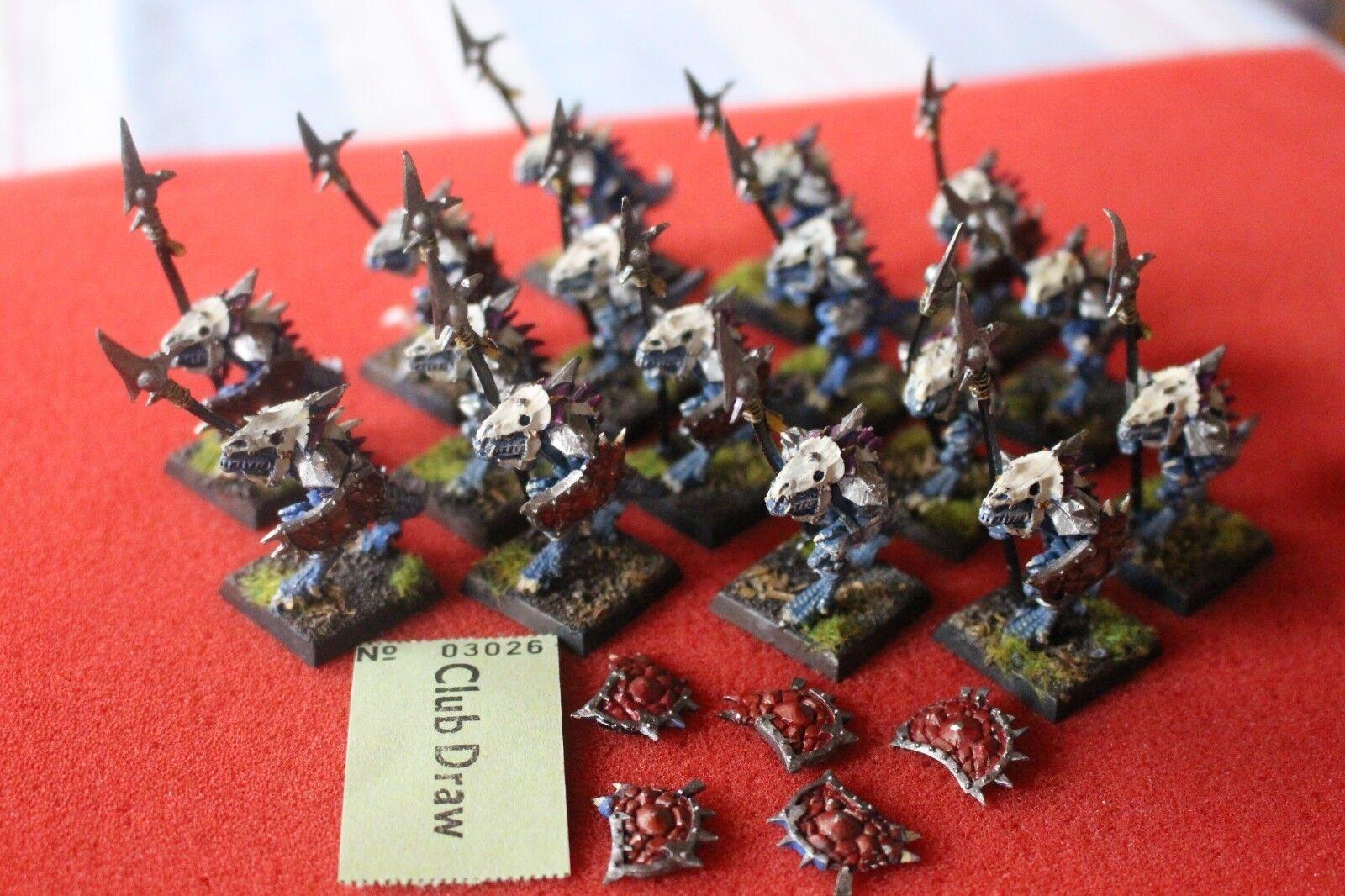 Games Workshop Warhammer Lizardmen Saurus Temple Guards Regiment Metal Army OOP