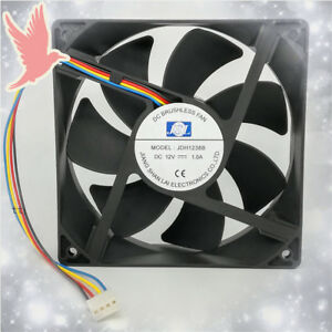 1pc jsl jdh1238b 12v 12cm 12038 1 0a 4 wire mute large air volume rh ebay com