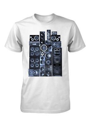 BNWT BUNNY DJ MUSIC SPEAKER TECH FLORAL PYRAMID ADULT T-SHIRT S-XXL