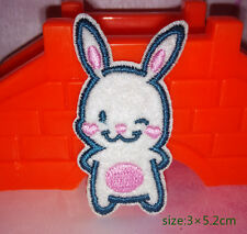 Lovely Rabbit Animal Iron on Cartoon Patch Mini Personalized Gift Embroidered
