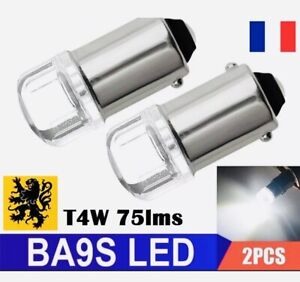 2x-T11-T4W-LED-H5W-75Lm-2-SMD-0-5W-BLANC-6000K-BA9S-T2W-T3W-Dome-190-compacts
