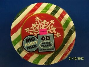 Holiday-Dots-amp-Stripes-Winter-Christmas-Banquet-Dinner-Party-7-034-Dessert-Plates
