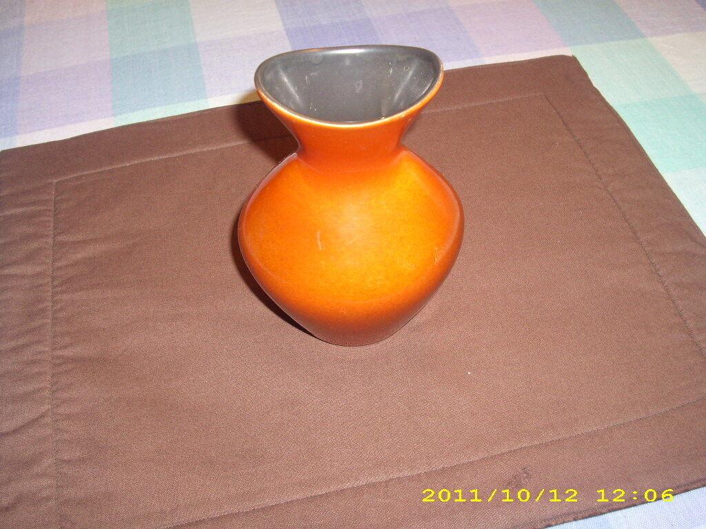 60s FABRIC Wächtersbach Wächtersbach Wächtersbach Vase U. Fesca URANIA Pottery  Orangerot | Mode-Muster  926eeb