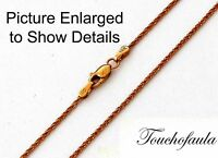 14k Solid Rose Gold Sparkling Diamond Cut Tornado Chain 16 Inches 2.0 Grams