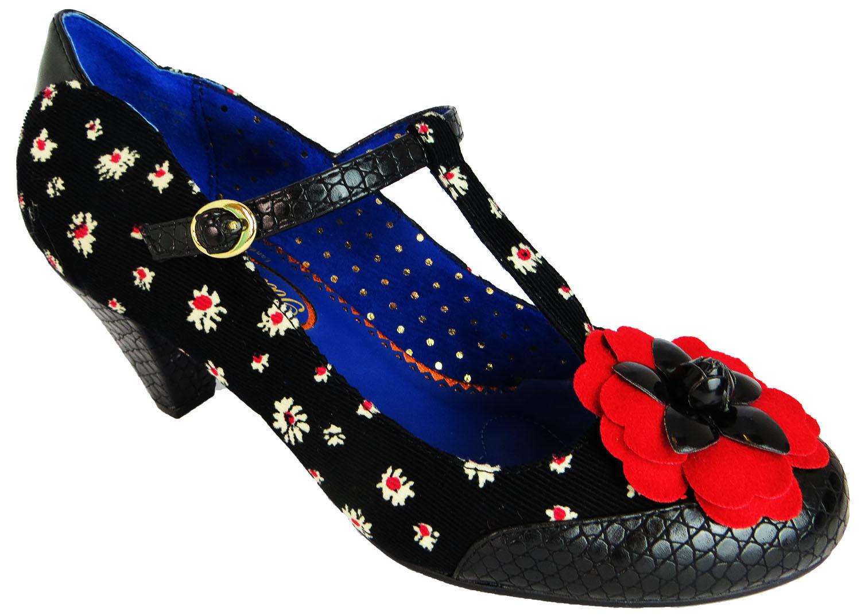 Poetic Licence Donna Nero Tè DANCE Tacco Medio Scarpe BOOT Nero Donna / Rosso 9e7f3f