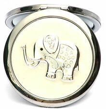 Elephant Compact Mirror Silver Plated Ideal Safari Nature Animal Gift Ladies