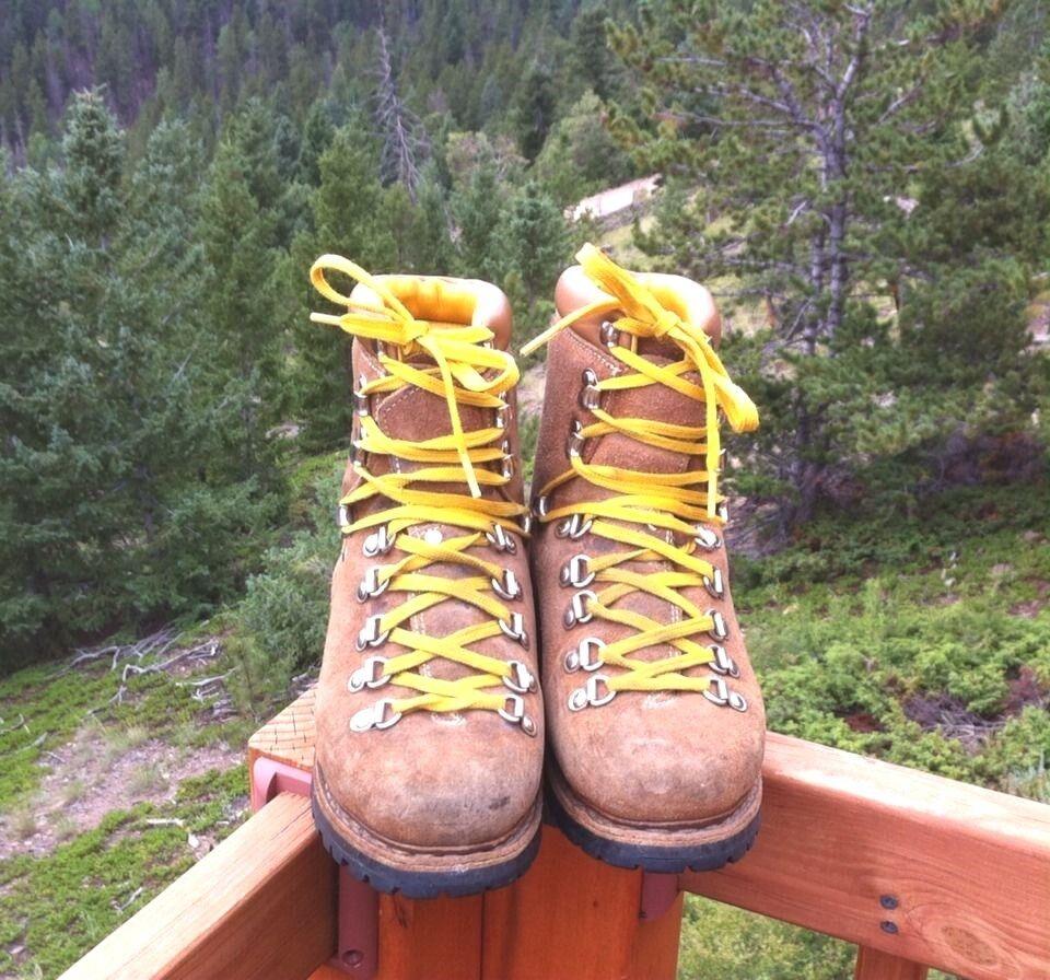 Gli uomini di cuoio di alpinismo, escursioni in escursione alpina taglia larga 5,5 stivali.