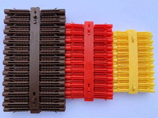 Wall Plugs Rawlplugs Drill Screw Fixing Brick Stone Concrete 100 x 6mm Red