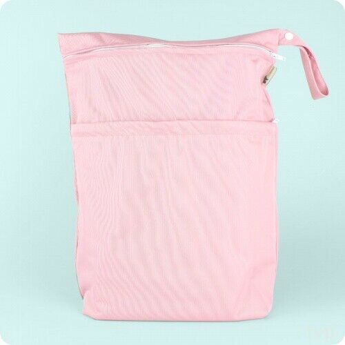 Large Wet bag for storing cloth nappies LittleLamb Double Wet Nappy Bag