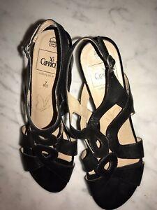 Sandalen hoher Absatz Gr. 40