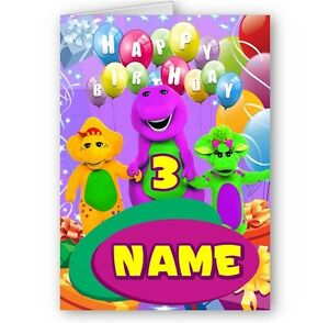Image Is Loading Personalised Barney And Friends Name Amp Age A5