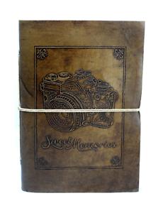 Sweet-Memories-Photo-Album-Genuine-Leather-Camera-Trip-Vintage-Black-Pages-India
