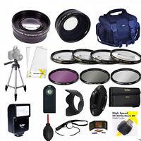Pro Hd Kit/ Flash / Lenses / Tripod/ Filters/ For Canon Eos Rebel T5 T5i T7 T6