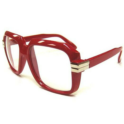 3a1a047c93 Oversized Red Hip Hop Glasses Rapper Run DMC Gazelle Rap Sunglasses 80s  Metal