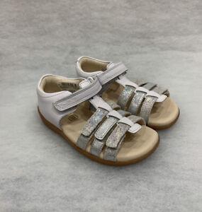 Girls Clarks Sandals Zora Spark White