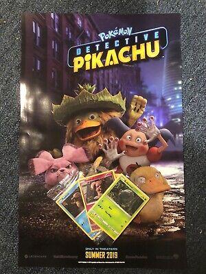 Pokemon Detective Pikachu MOVIE PROMO 3 Poster SET LOT TARGET GAMESTOP WALMART