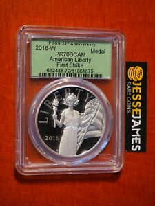2016-W-AMERICAN-LIBERTY-PROOF-SILVER-MEDAL-PCGS-PR70-DCAM-FIRST-STRIKE-UH9