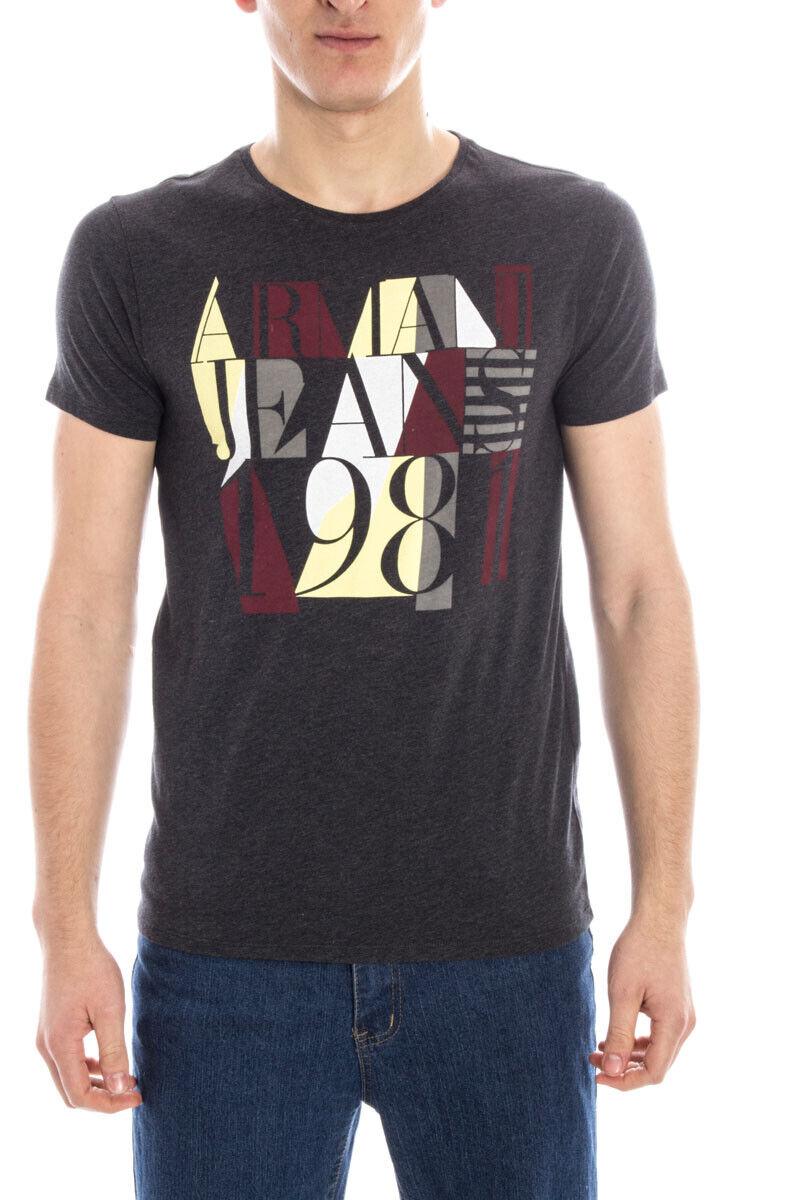Armani Jeans AJ T Shirt Sweatshirt SLIM FIT Man grau A6H36ZX E2 Sz. L PUT OFFER